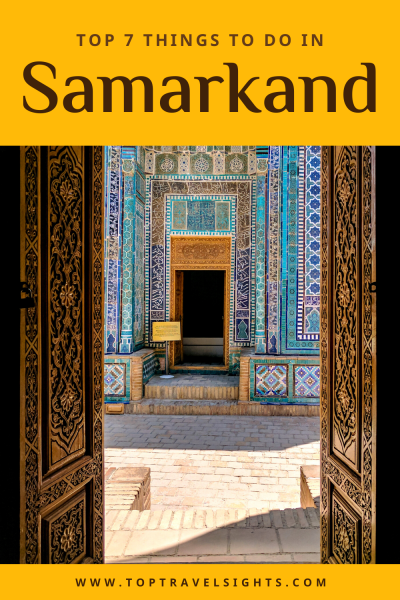 Pinterest graphic for Top things to do Samarkand