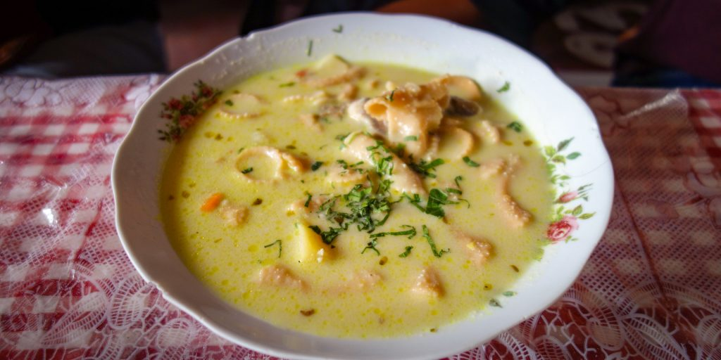 Sopa de mani, typical dish from Bolivia