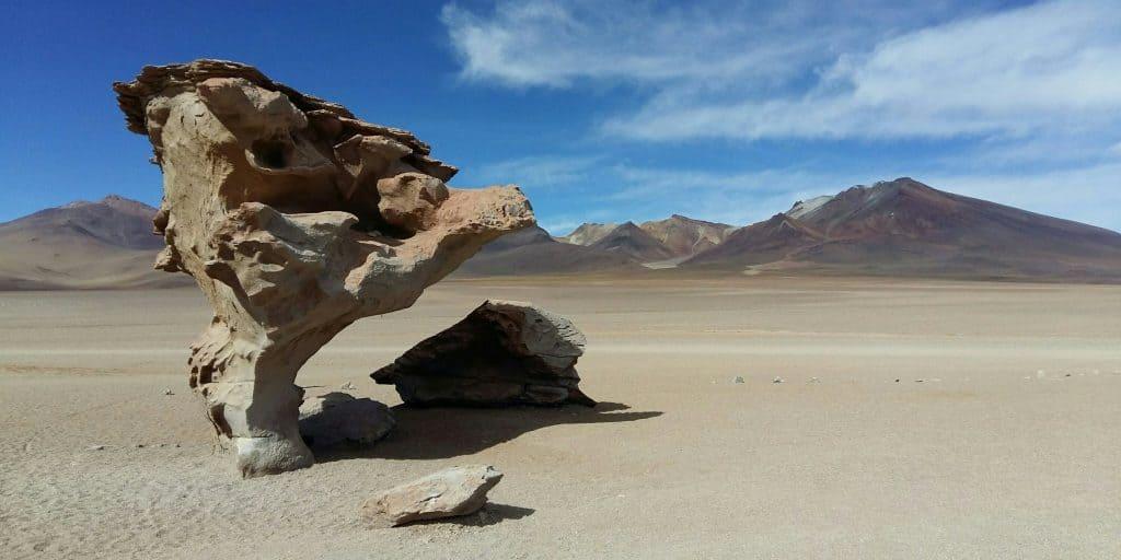 Arbol de Piedra in the Bolivian Altiplano near Uyuni, Bolivia