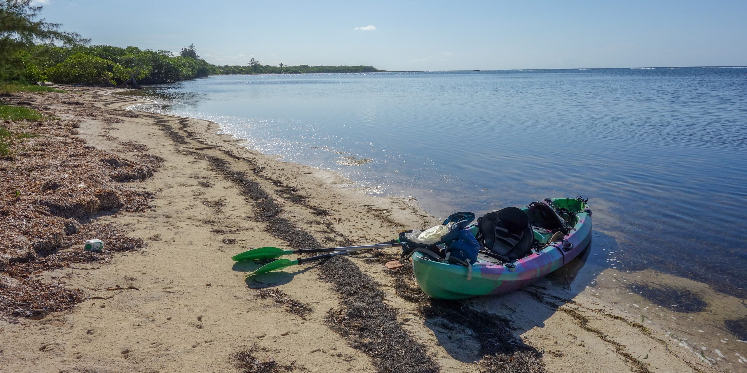 Kayak at the beach in Rock Harbor, Honduras