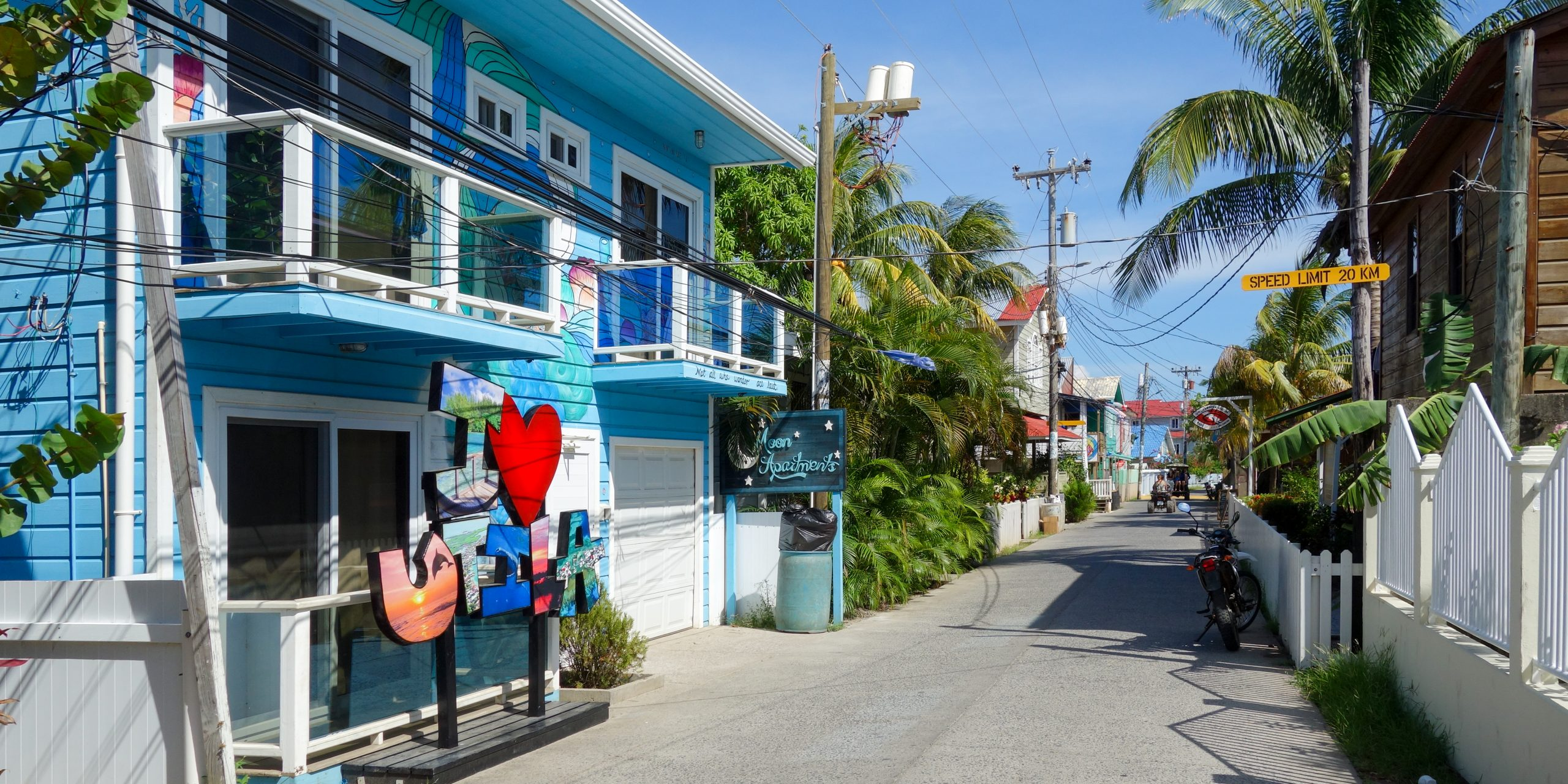 Street from Utila, Honduras