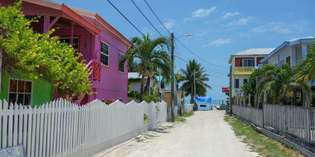 Colourful houses on Caye Caulker, Belize