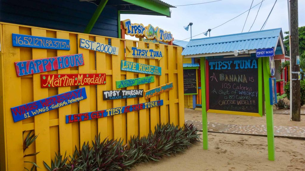 Tipsy Tuna bar in Placencia, Belize