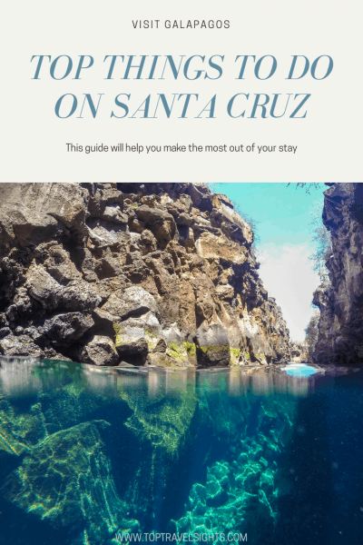 Pinterest Graphics for Things to Do on Santa Cruz, Galapagos, Ecuador
