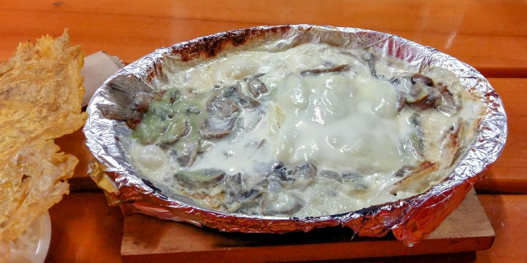 Trout in a creamy mushroom sauce, Salento, Colombia