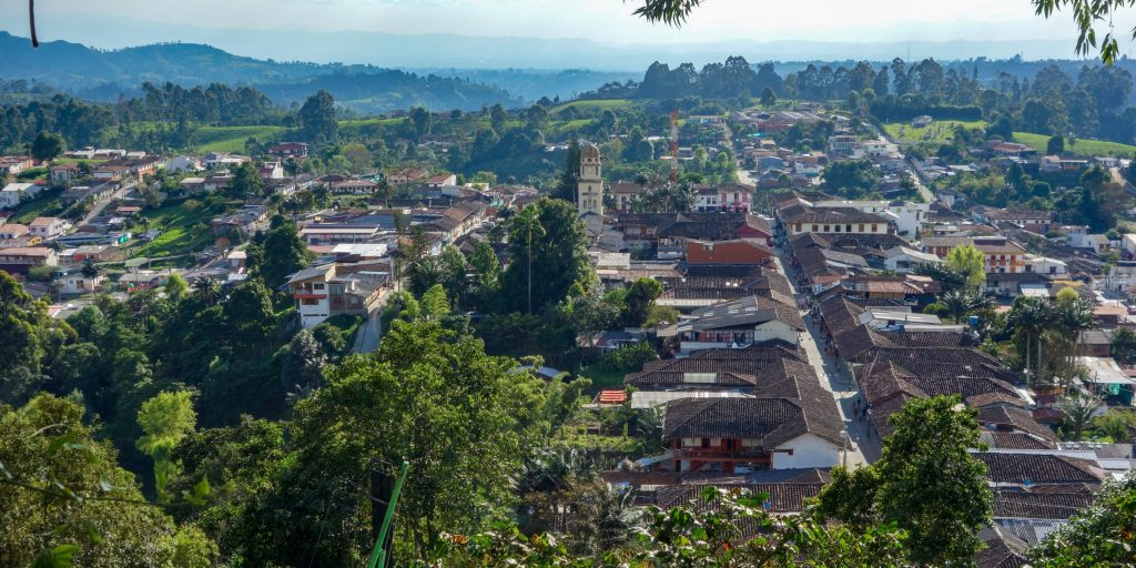 View over Salento, Colombia