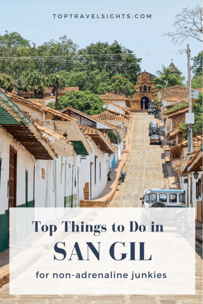 Pinterest graphic for top things to do in San Gil, Colombia