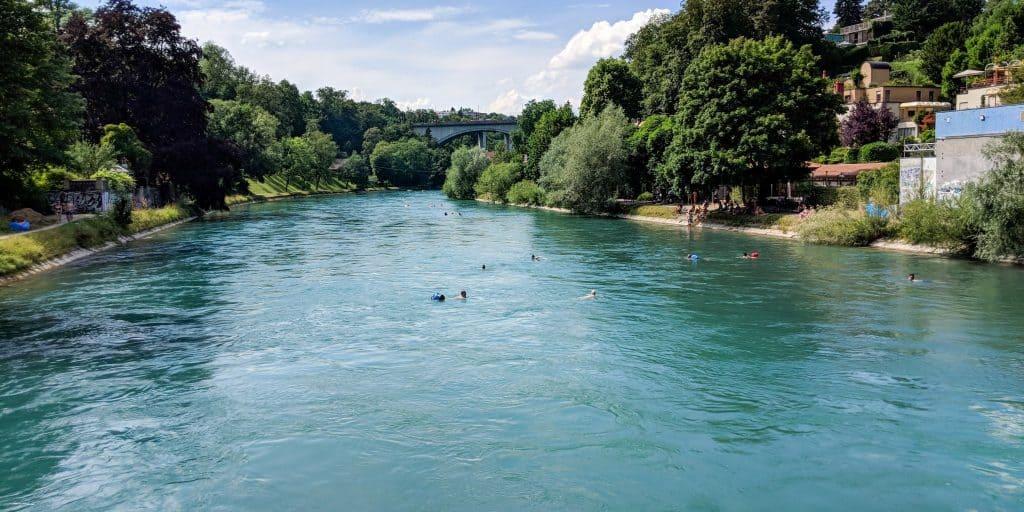 View of the Aare in Bern, Switzerland