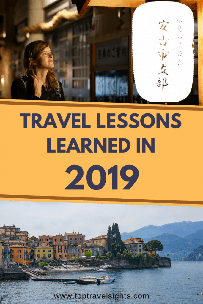 Pinterest graphic for Travel lessons learned in 2019