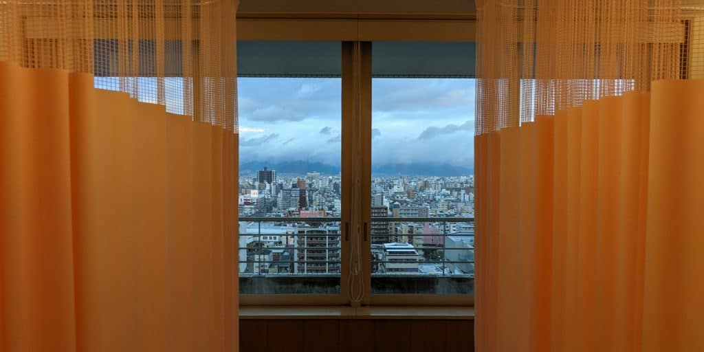 View from Red Cross Hospital, Osaka, Japan