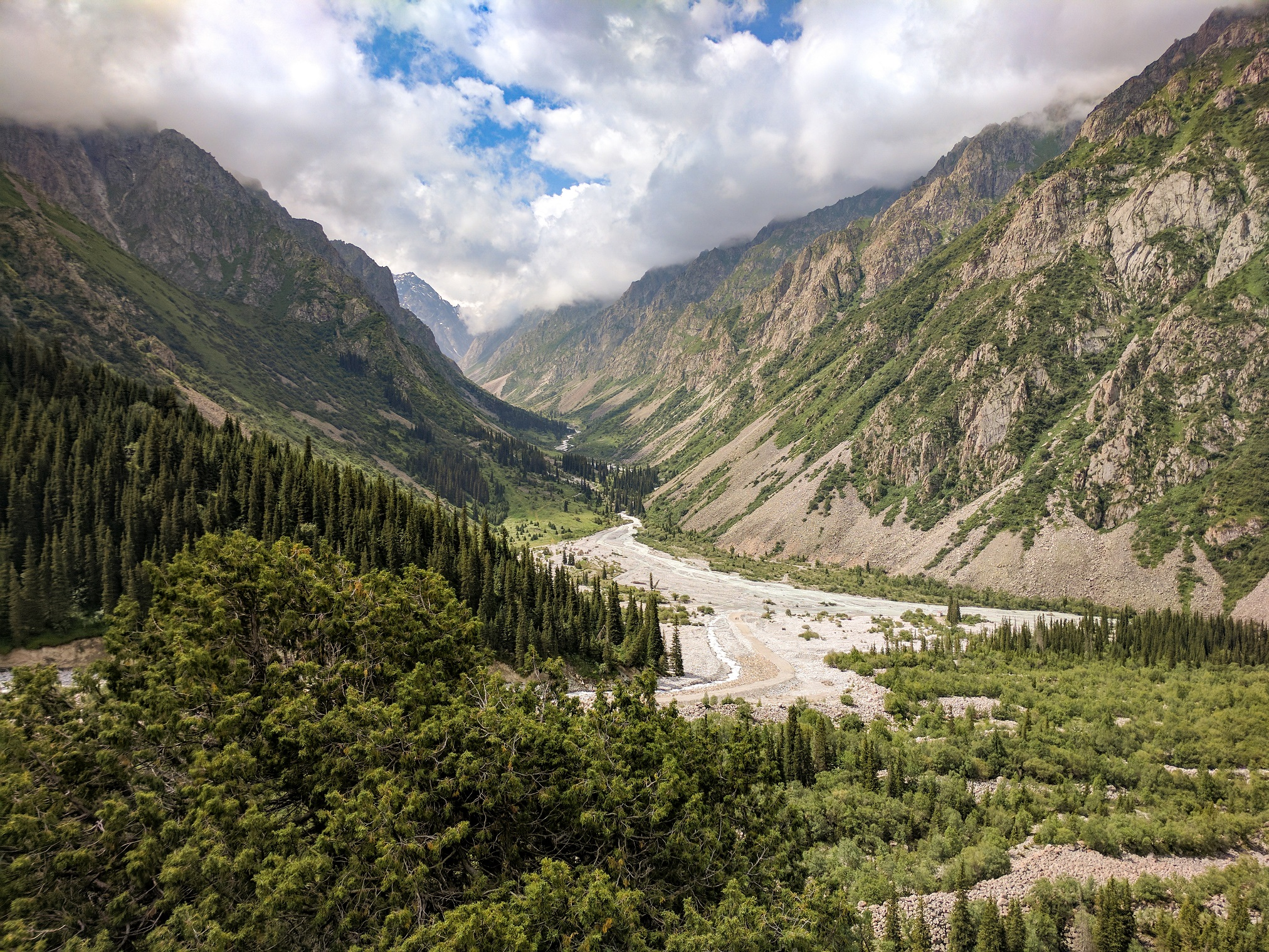 View of Ala Archa National Park, Kyrgyzstan