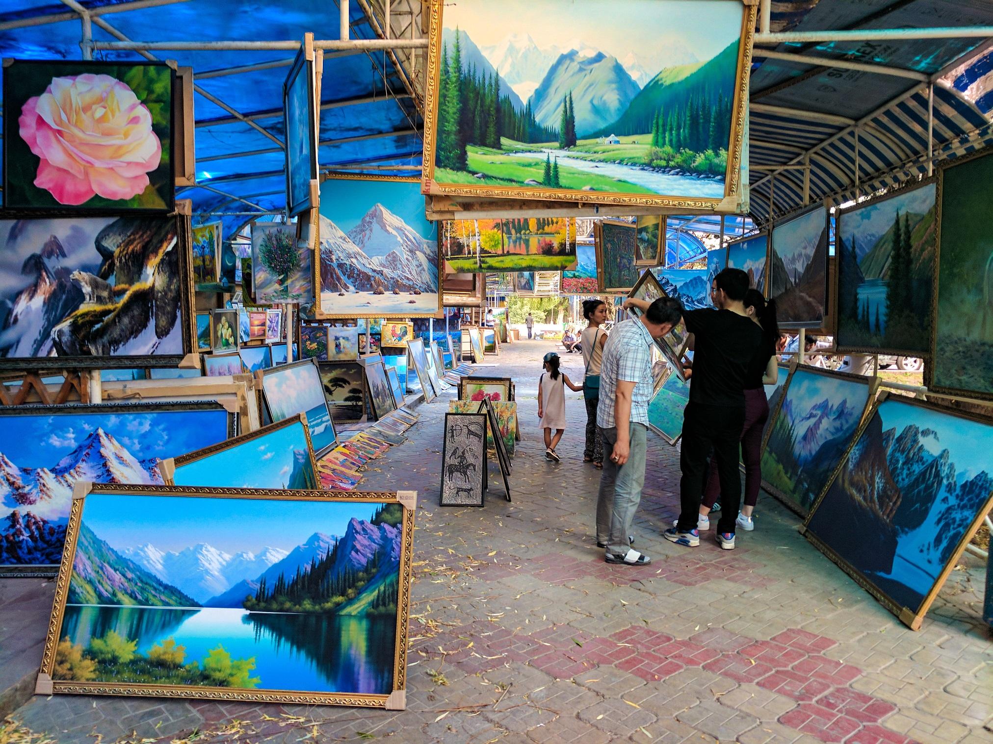 Painting Market in Bishkek, Kyrgyzstan