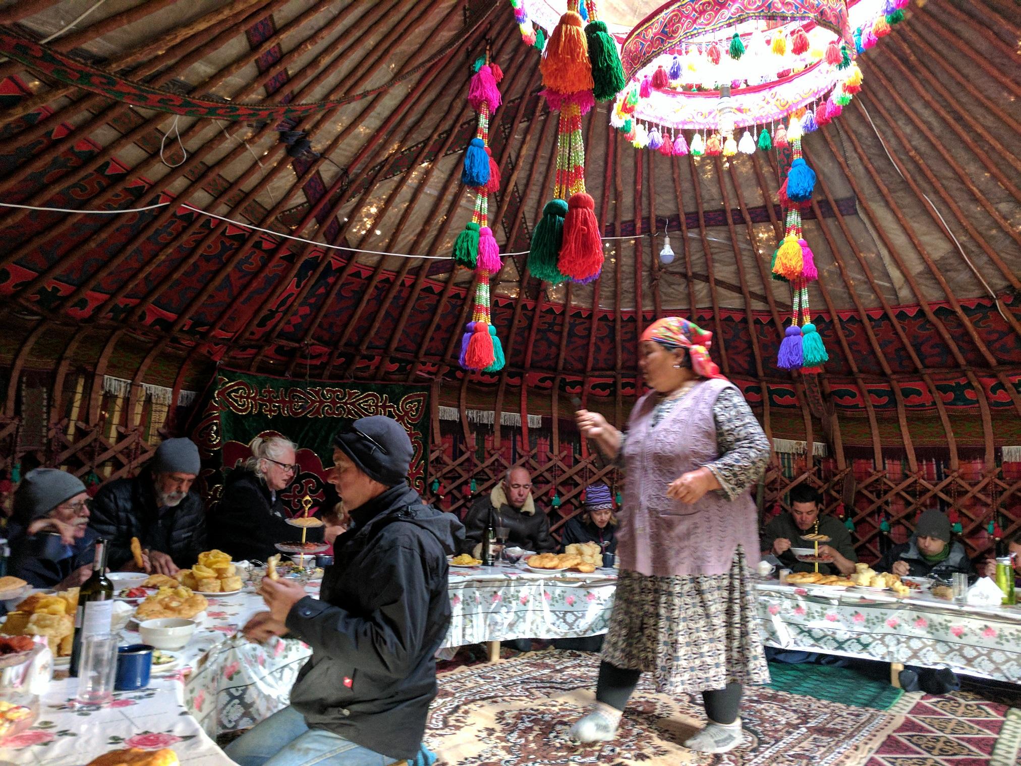 Inside of a Yurt in Kyrgyzstan