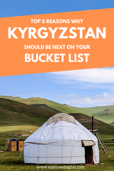 Pinterest graphic for top 5 reasons Kyrgyzstan