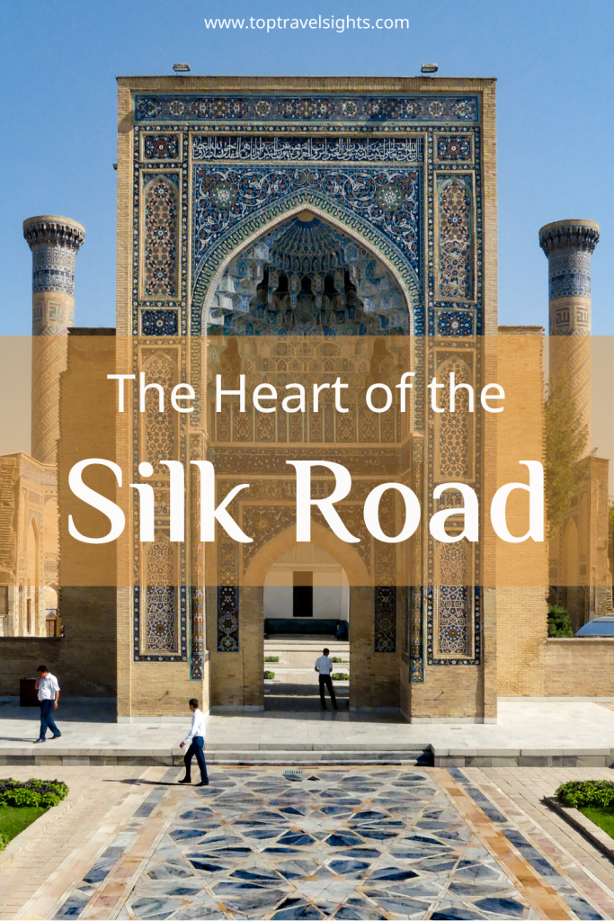 Pinterest graphic Heart of the Silk Road