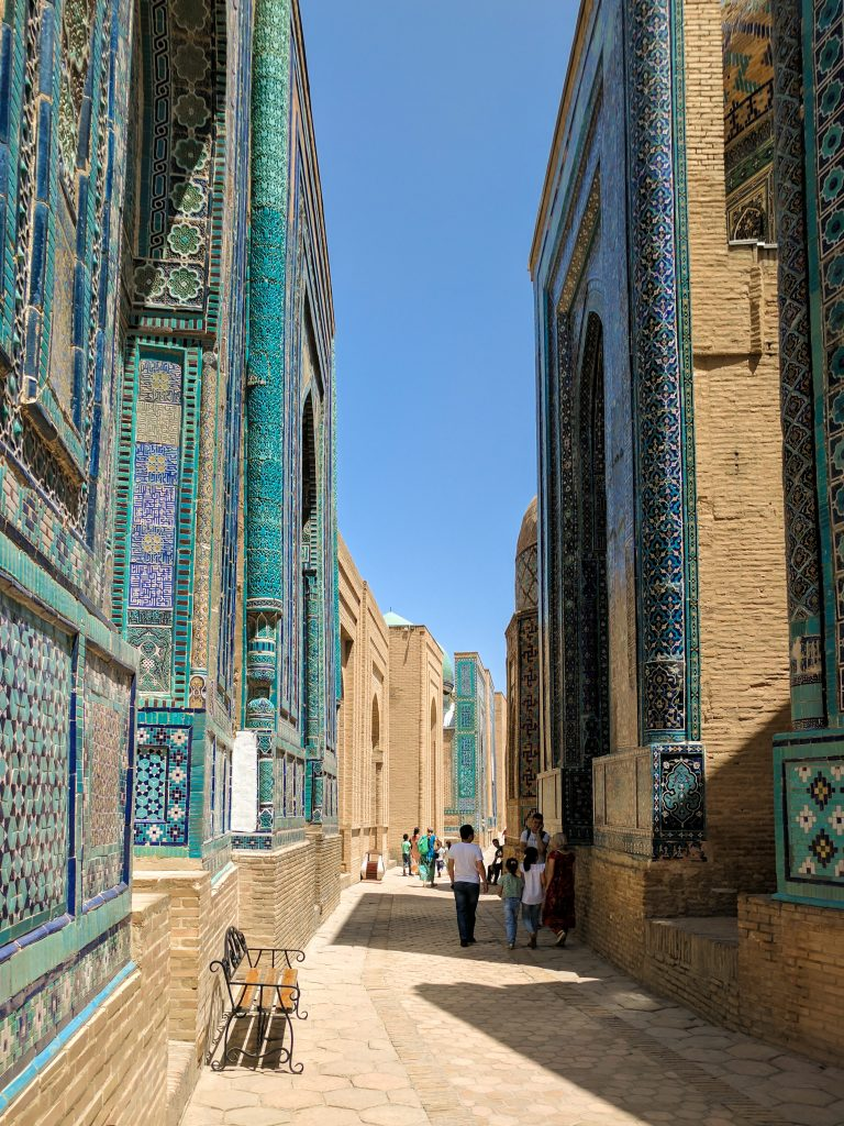 View of Shah-i-Zinda in Samarkand, Uzbekistan