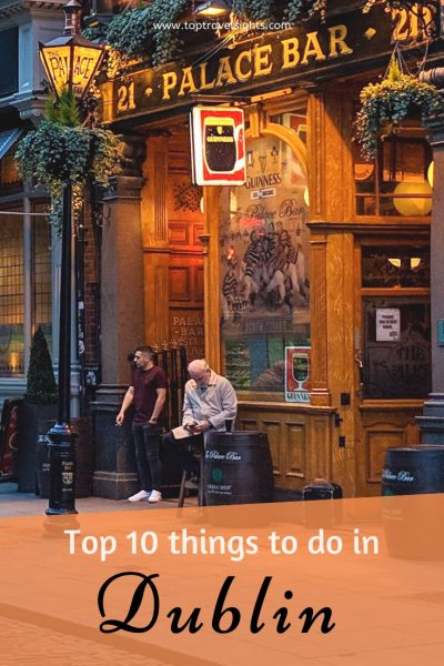Pinterest image for Top things to do in Dublin