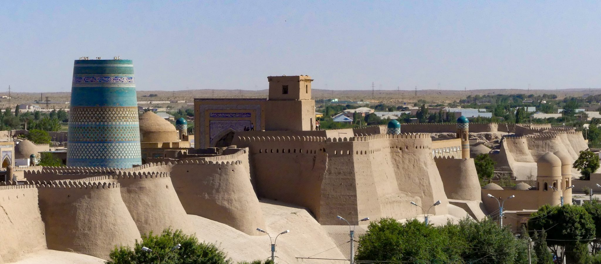 View of the city of Khiva, Uzbekistan