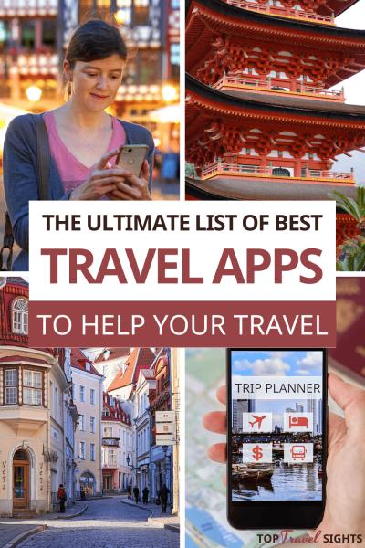 Pinterest Graphic for Best Travel Apps
