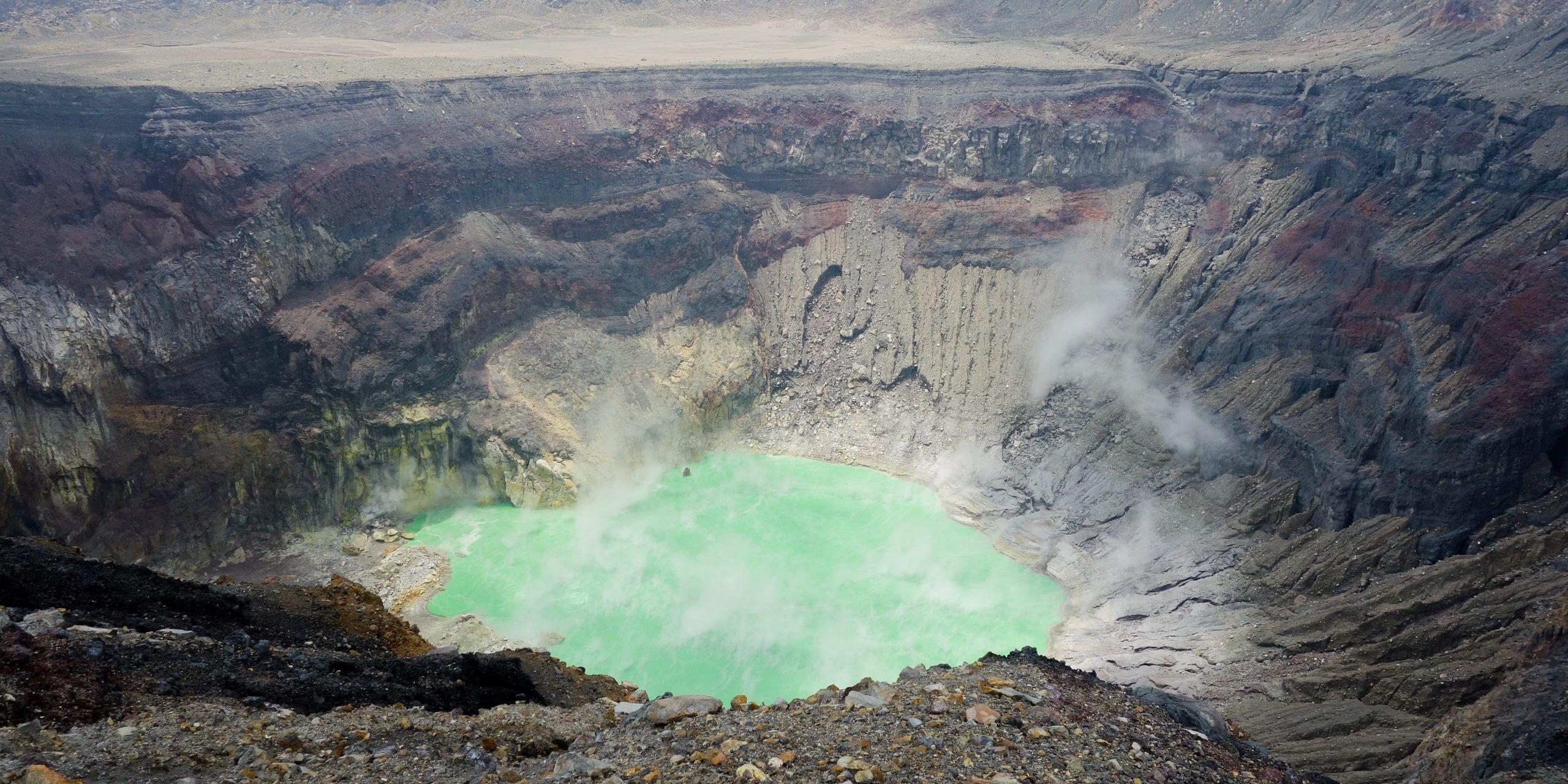 Crater of Santa Ana Volcano, El Salvador