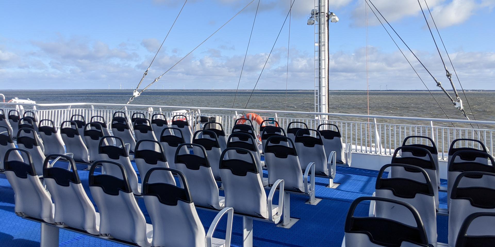 Ferry to Kuressaare, Estonia