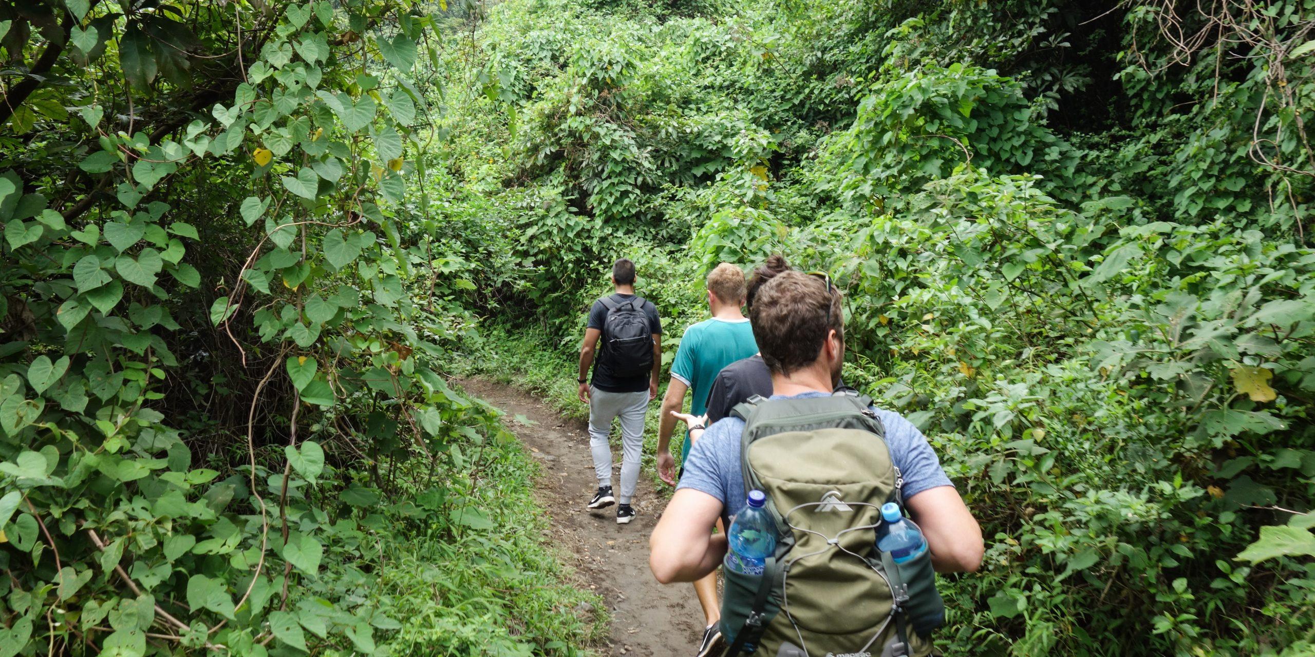 Hiking to Volcan Santa Ana, El Salvador
