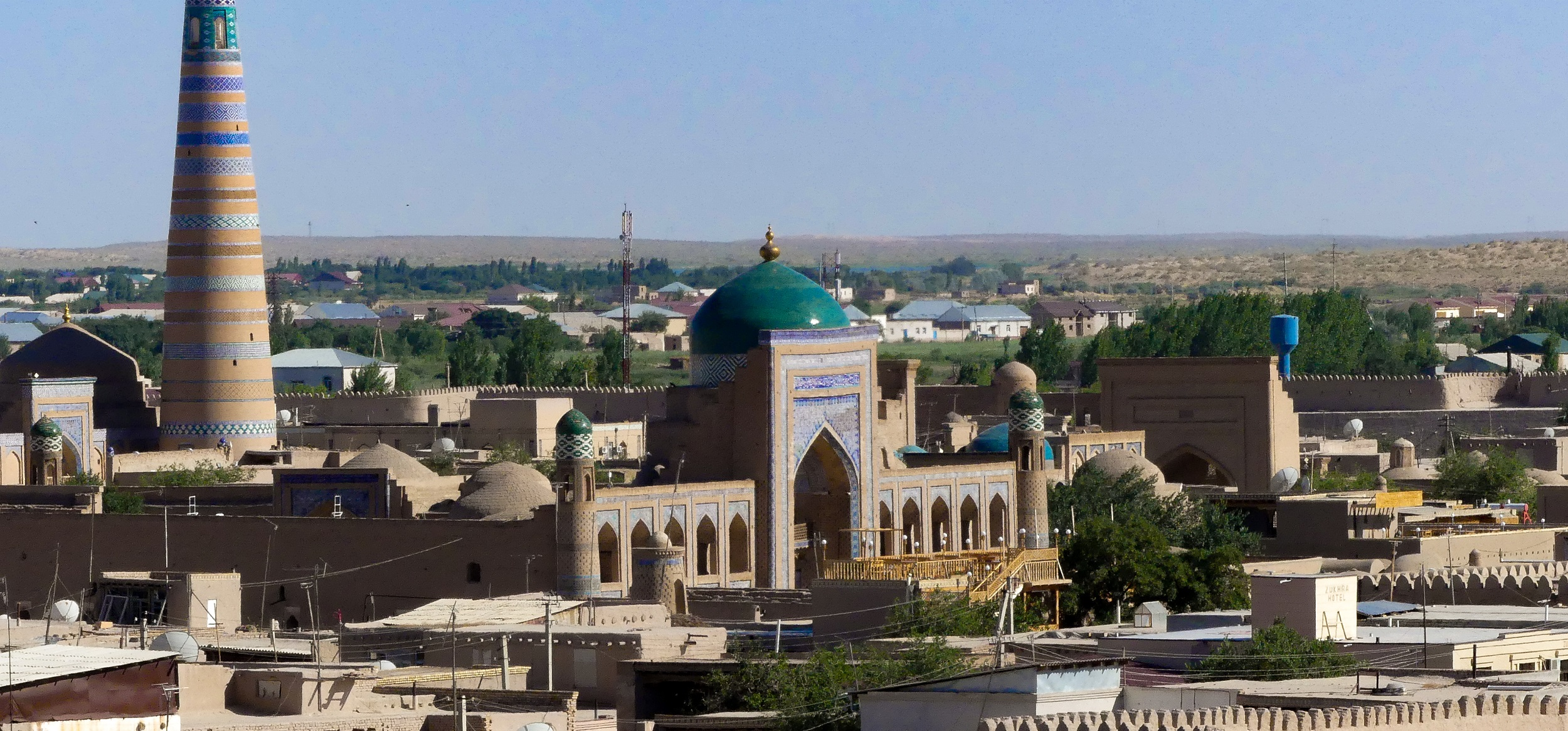 View of the city of Khiva from above, Uzbekistan