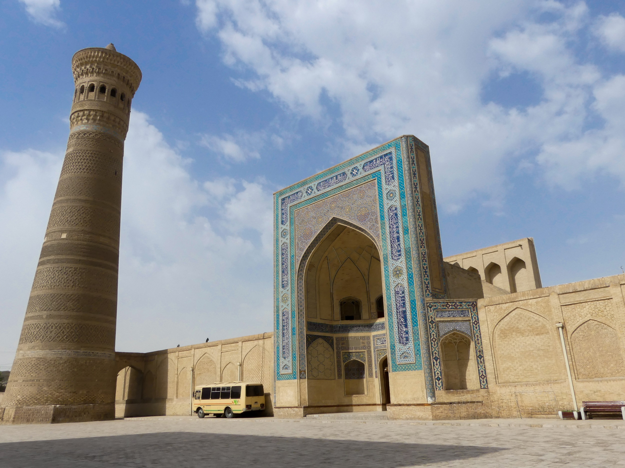 Kalyan minaret and mosque in Bukhara, Uzbekistan