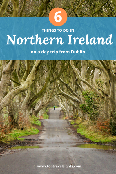 Pinterest graphic for top 6 things Northern Ireland