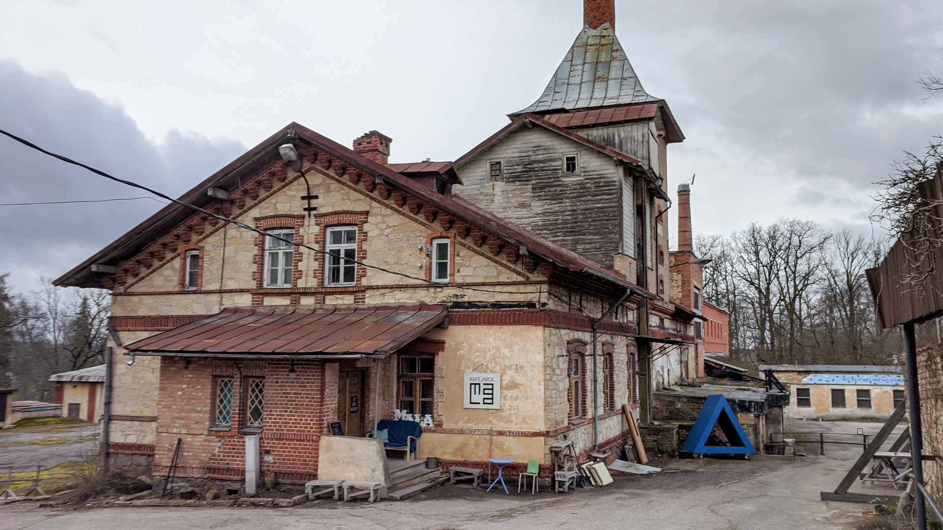 Brewery near the Old Castle of Cesis, Latvia