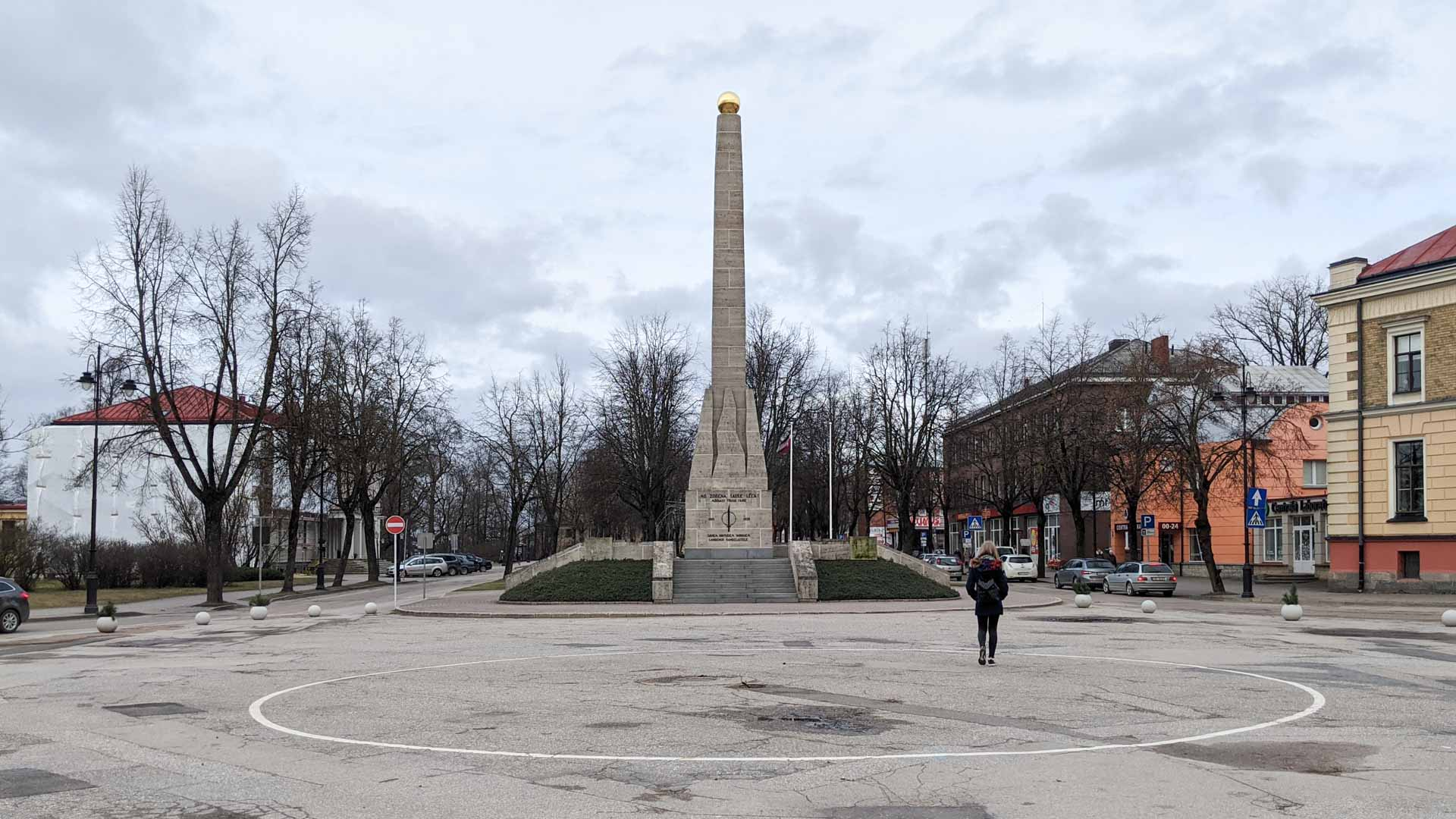 Monument of Victory of Cesis, Latvia