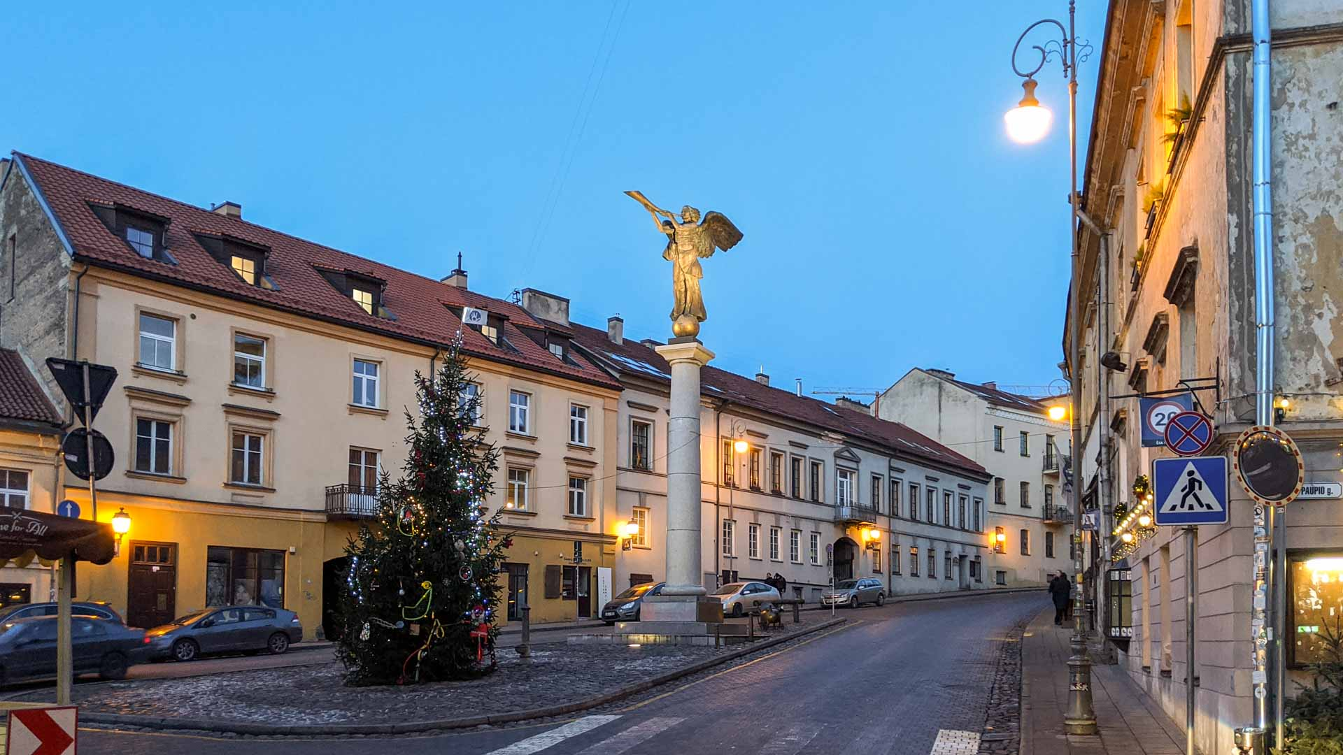 Uzupis angel in a square, , Vilnius, Lithuania
