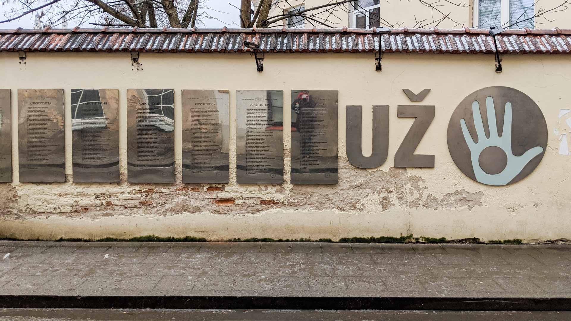 Uzupis constitution, Vilnius, Lithuania