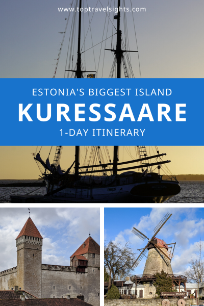 Pinterest graphic for Kuressaare 1-Day Itinerary