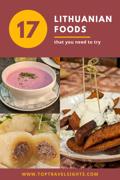 Pinterest Graphic for Top 17 Delicious Food to Eat in Lithuania