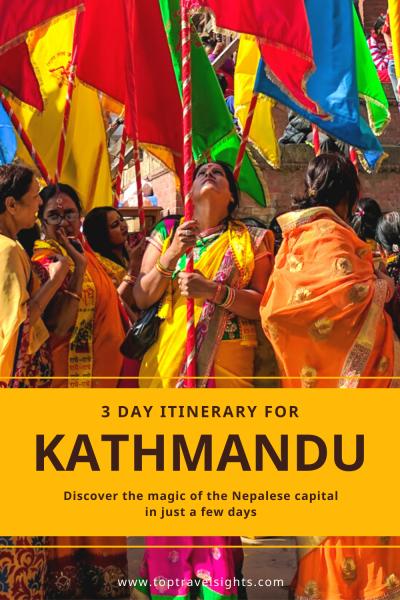 3 Days in Kathmandu, Pinterest