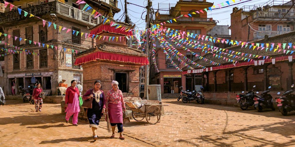 Street of Bhaktapur, Nepal