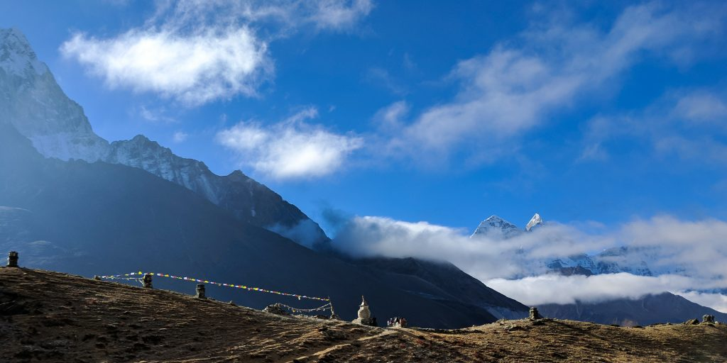 View of one of the paths of the Everest Base Camp Trek, Nepal