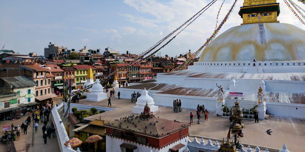 View of the Kathmandu Boudhanath Stupa, Nepal