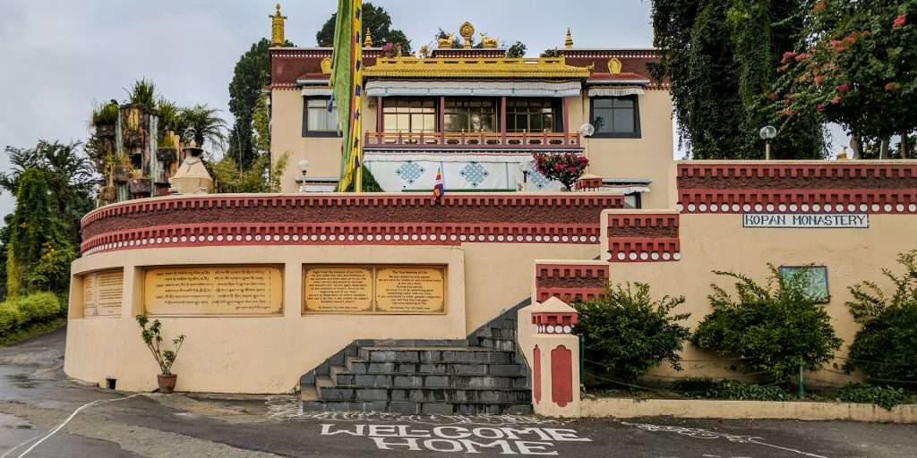 Entrance of the Kopan Monastery in Kathmandu, Nepal
