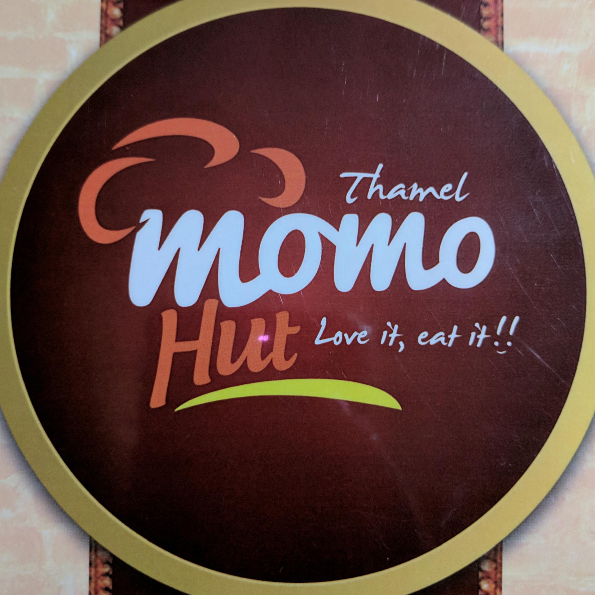 Momo Hut logo in Kathmandu, Nepal