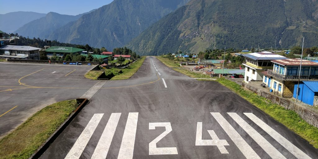 View of the Lukla Airport, Nepal