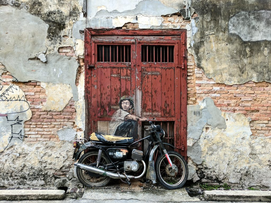 Boy on a Bike, street art in George Town, Penang, Malaysia