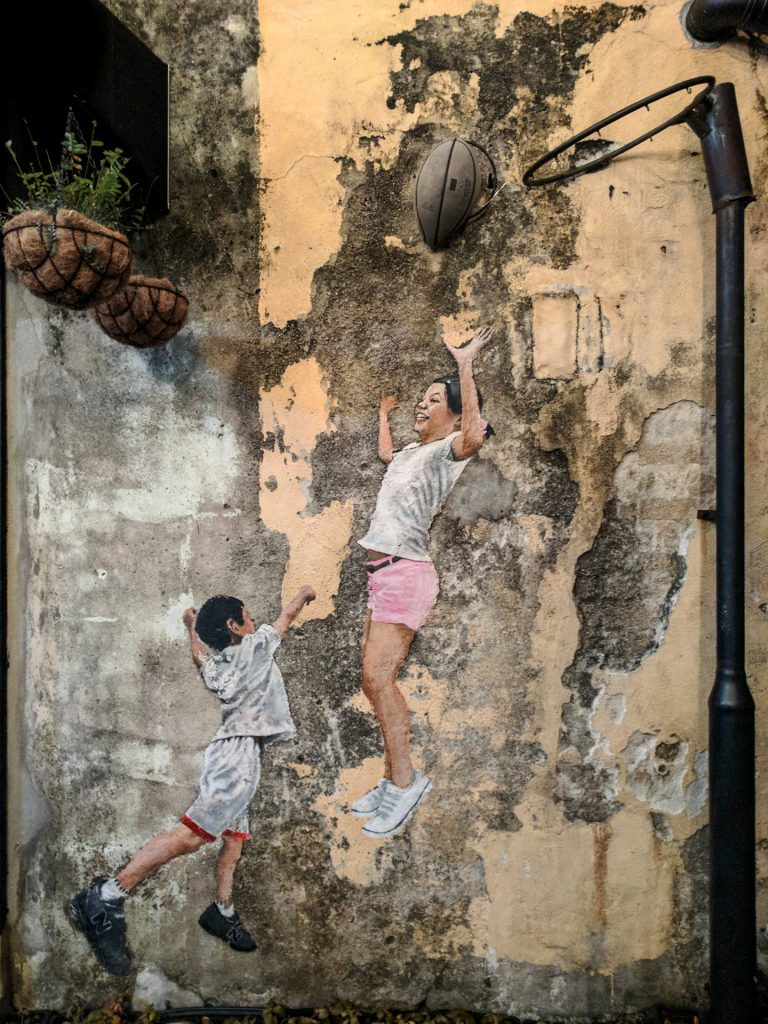 Children Playing Basketball, George Town, Penang, Malaysia