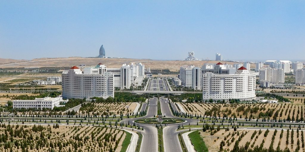View from Monument of Neutrality, Ashgabat, Turkmenistan