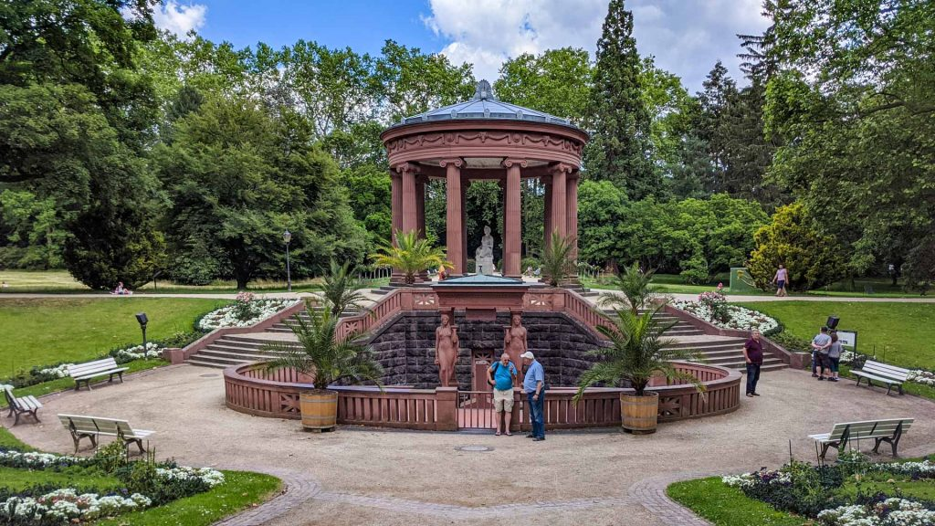 The Elisabethenbrunnen in the Kur Park