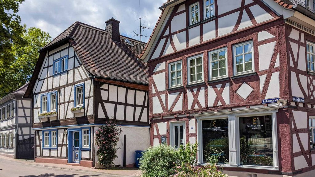 Half-timbered houses in the Old Town of Bad Homburg