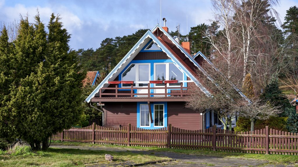 Colourful house in Nida