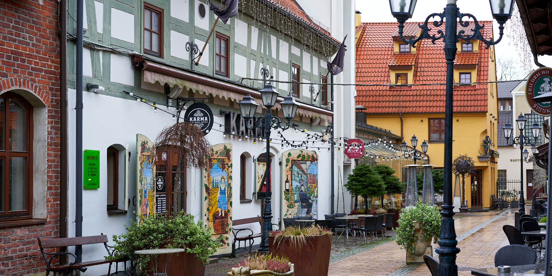 Traditional houses in Klaipeda Old Town