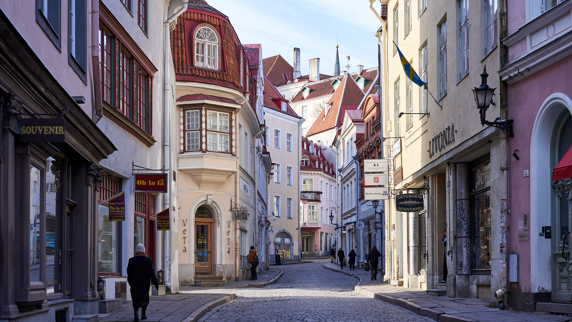 Street in the Old Town of Tallinn